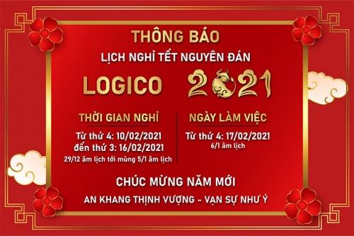 Logico thông báo lịch nghỉ Tết Âm lịch 2021