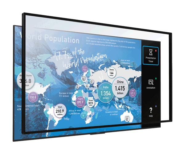 Màn hình tương tác 55 inch 4K HDR Sony Multi-Touch Overlay
