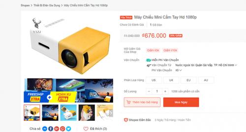 Sự thật máy chiếu mini giá rẻ rao bán trên mạng