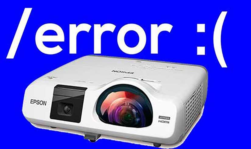 Các lỗi máy chiếu thường gặp và cách khắc phục hiệu quả