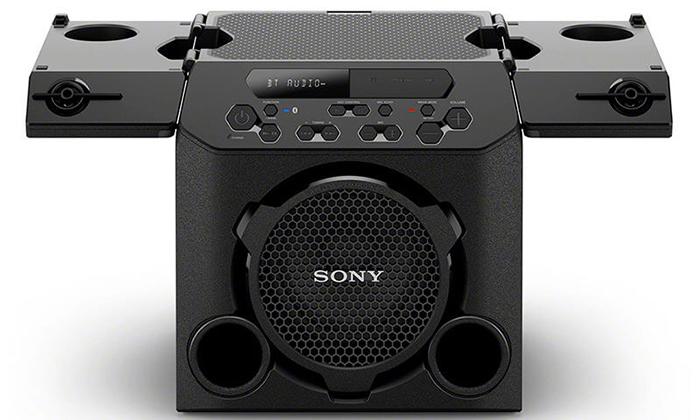Đánh giá nhanh loa di động Sony GTK PG-10 thiết kế hoài cổ nghe được Bluetooth, CD, đài radio