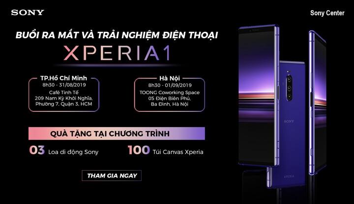 Đăng ký tham gia trải nghiệm Sony Xperia 1 tại TPHCM và Hà Nội