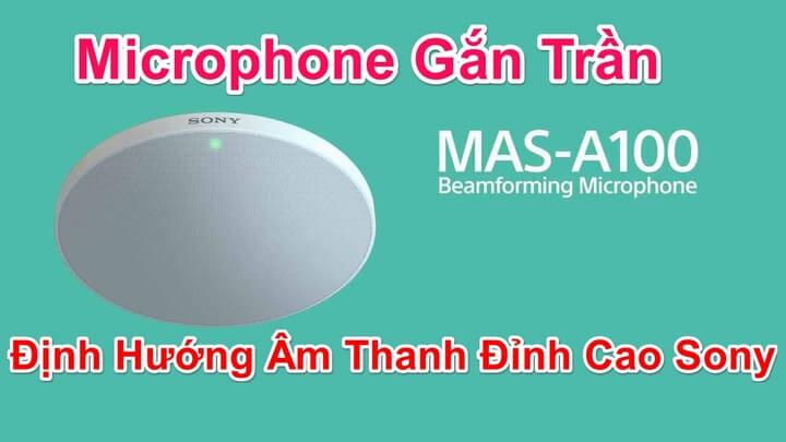 MAS-A100 Microphone định hướng gắn trần Sony cho âm thanh chất lượng