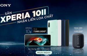 """Chương trình khuyến mãi """"HÈ VUI KHUI QUÀ KHỦNG"""" khi mua điện thoại Xperia 10 II"""