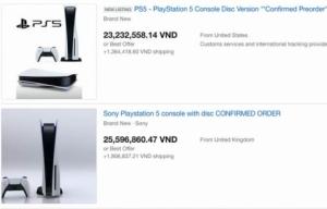 PlayStation 5 được chào giá 20 triệu đồng tại Việt Nam